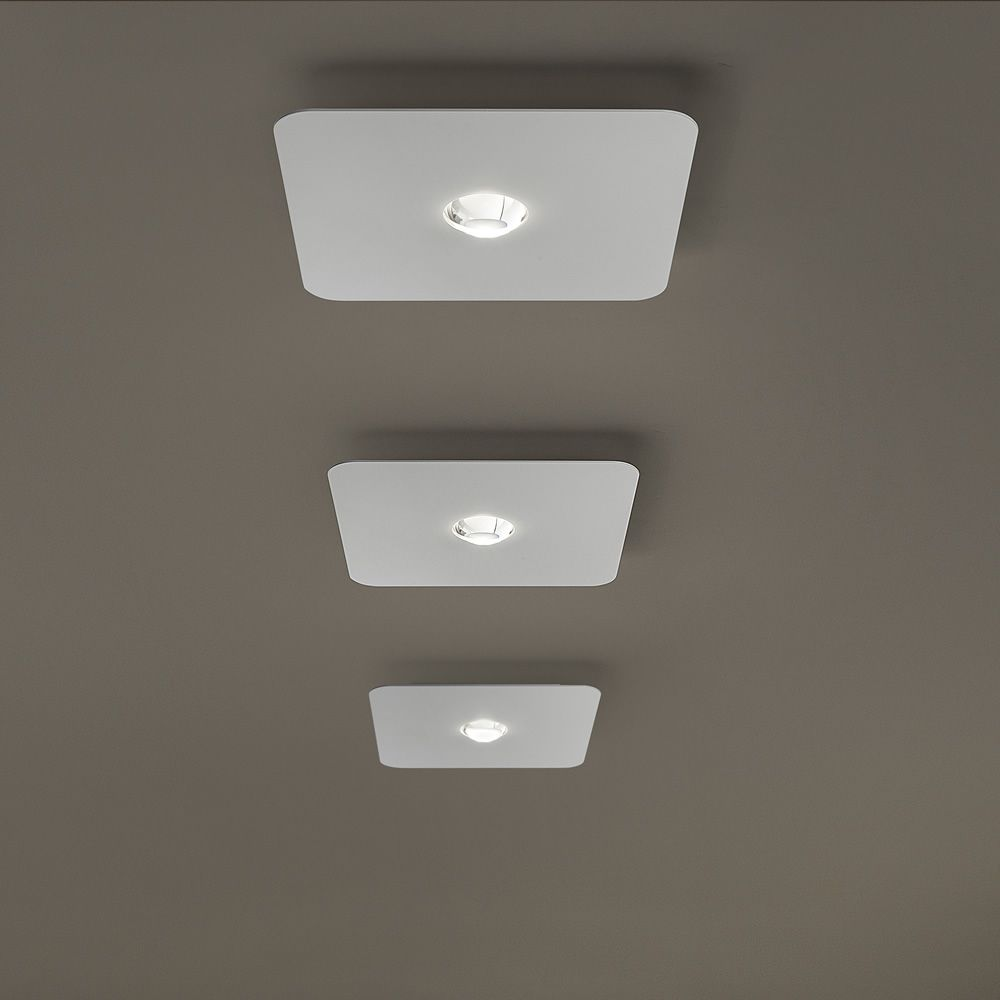 Frozen designer ceiling lamp in metal led sediarreda for Luci led a soffitto