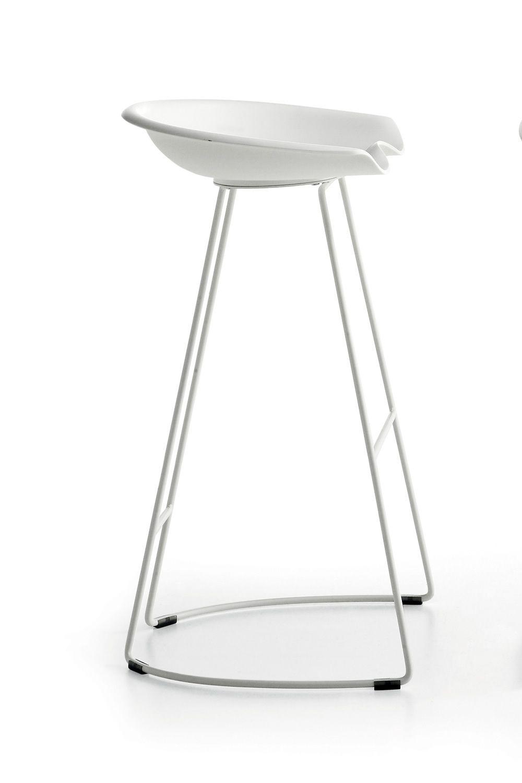 landi tabouret moderne midj en m tal et technopolym re hauteur assise 66 ou 76 cm aussi pour. Black Bedroom Furniture Sets. Home Design Ideas