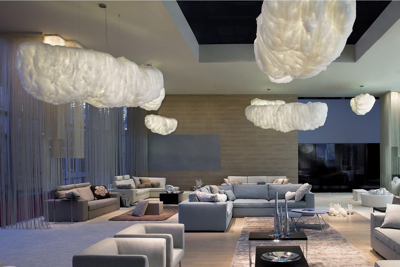Nuvola - Lampada a sospensione di design, a forma di nuvola ...