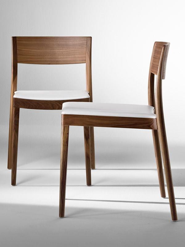 Miss sedia design di tonon in legno imbottita diverse - Sedia legno design ...
