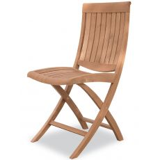 Harmony F - Folding chair in robinia wood, for garden