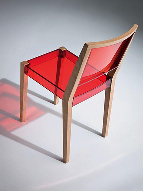 Together chaise design en ch ne et technopolym re empilable sediarreda - Chaise empilable design ...