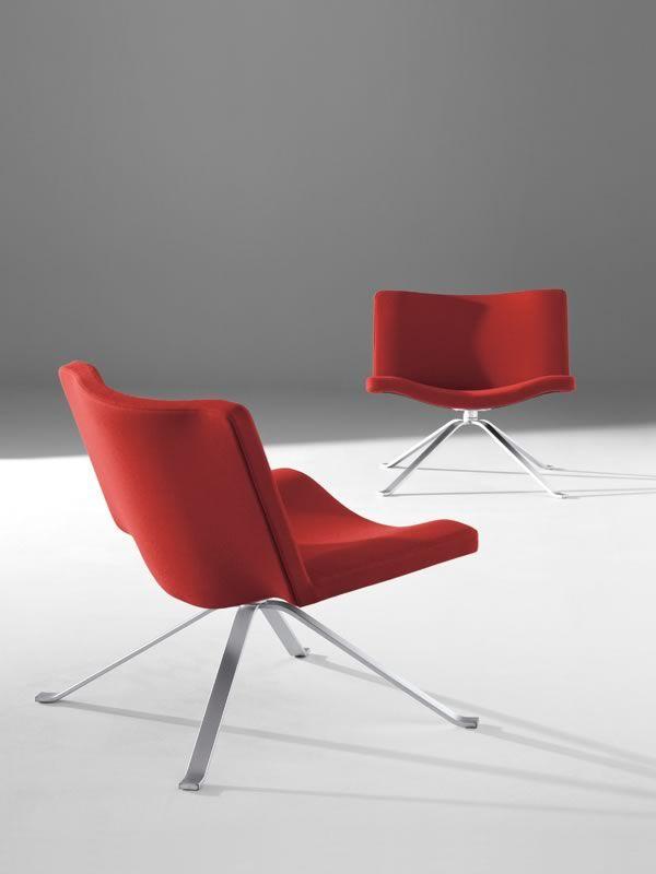 Wave sill n design de tonon giratorio o fijo en piel o - Sillones sala de espera ...