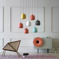 Kiki - Miniforms suspension lamp, in ceramic