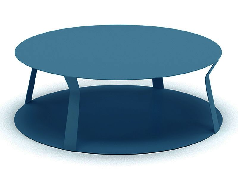 Freeline2 table design ronde en m tal disponible en - Table basse de couleur ...
