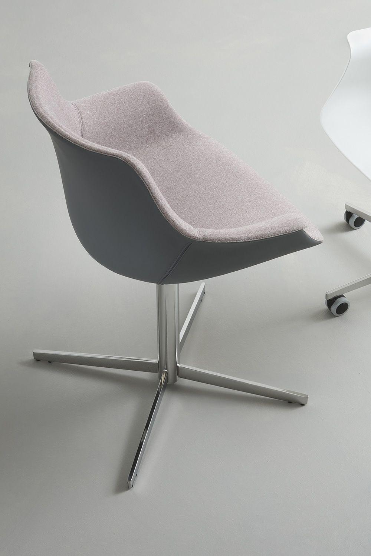 more fauteuil design base en m tal et assise rembourr e pivotant en diff rentes couleurs. Black Bedroom Furniture Sets. Home Design Ideas