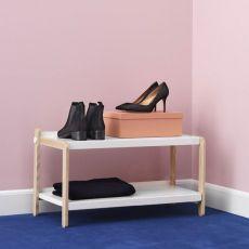 Sko - Meuble à chaussures Normann Copenhagen en bois avec étagères en métal, disponible en différentes couleurs