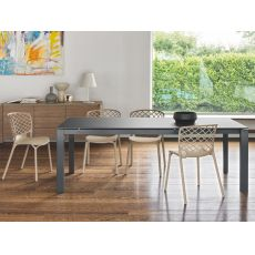 CB4010 160 Baron - Connubia - Calligaris metal table, different tops available, 160 x 85 cm extendable