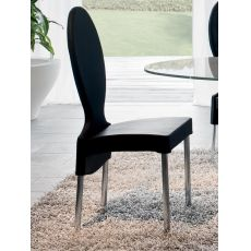 7258 Vivienne - Tonin Casa metal chair, leather, fabric or imitation leather seat, different colours