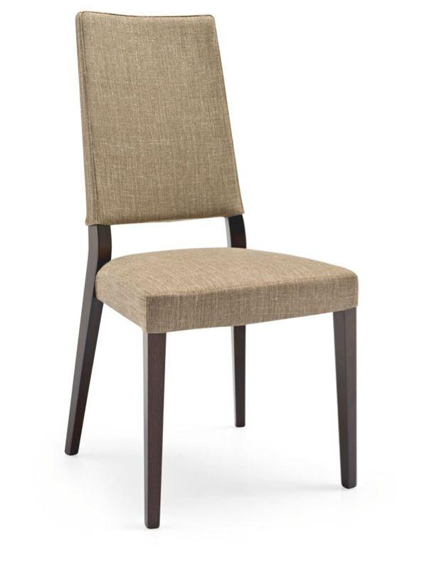 cb1260 b sandy pour bars et restaurants chaise en bois assise et dossier rev tus en tissu. Black Bedroom Furniture Sets. Home Design Ideas
