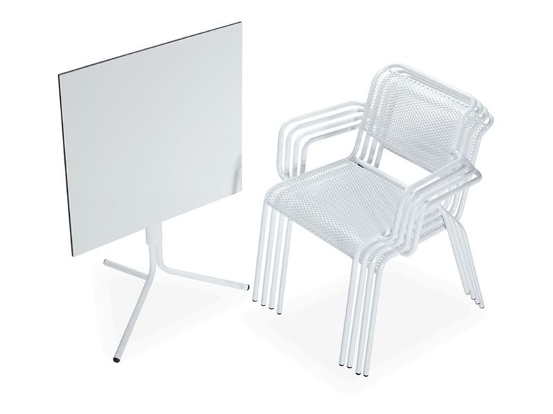 Nassa p sedia metallo di diversi colori con braccioli anche per