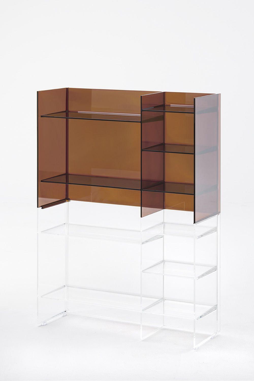 sound rack badezimmerm bel kartell by laufen stapelbar aus polymethylmethacrylat in. Black Bedroom Furniture Sets. Home Design Ideas