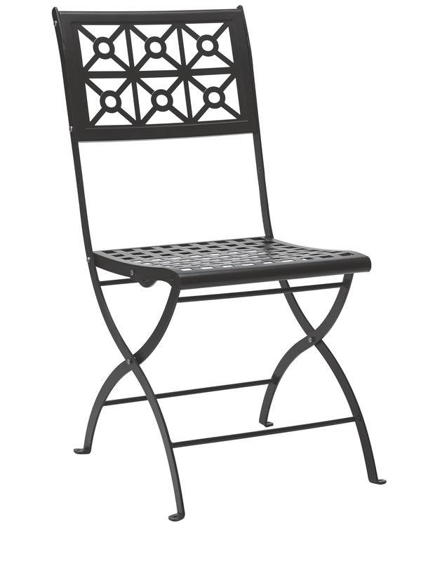 Isotta 2506 silla plegable de acero para jard n sediarreda for Sillas de jardin plegables