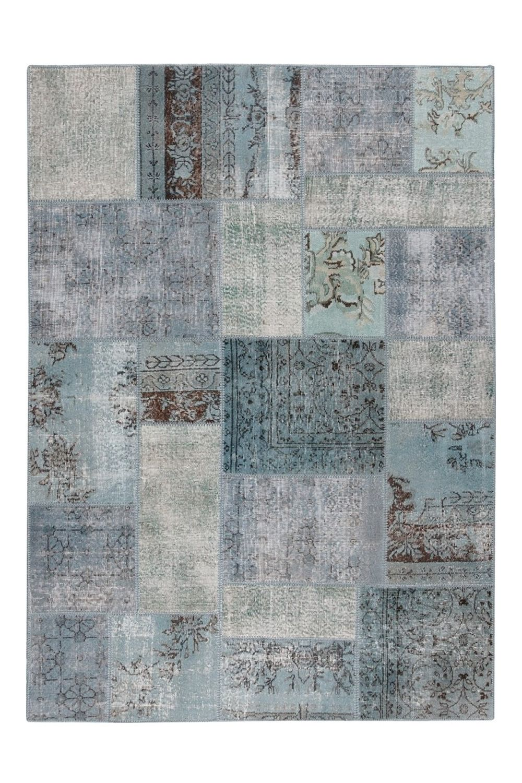 Antalya blue tappeto moderno in pura lana vergine for Tappeto moderno