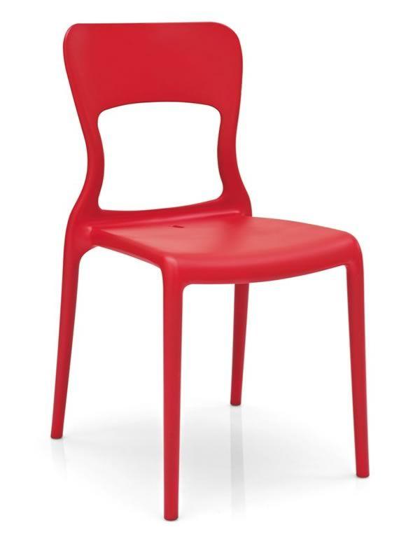 Cb1312 helios silla apilable connubia calligaris de - Sillas de plastico jardin ...