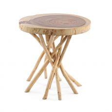Algeri - Tavolino di design, in legno naturale