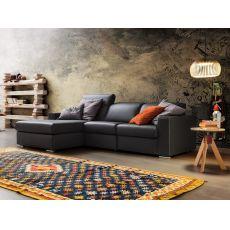 Drive - Divano moderno a 2 posti maxi con relax e chaise longue