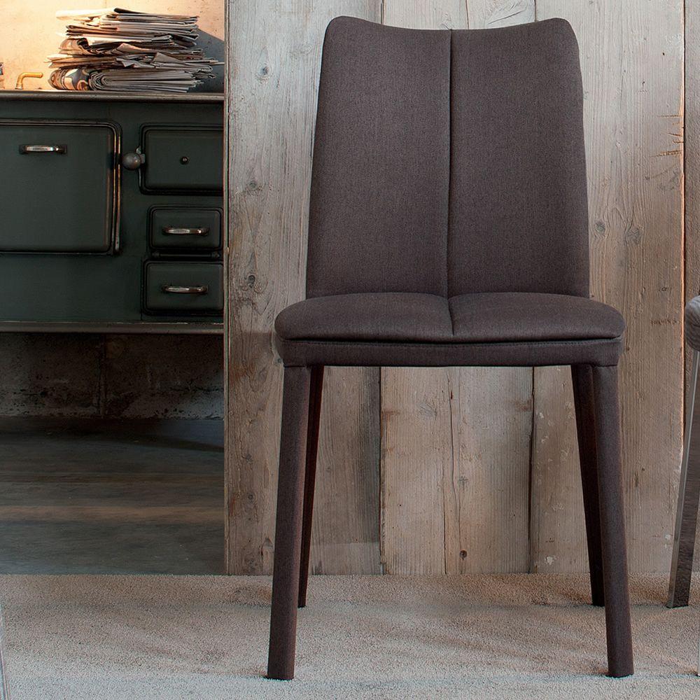 Corinto sedia di design in metallo imbottita e - Sedia di design ...