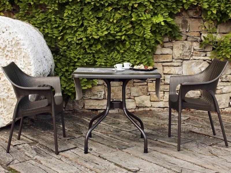 Olimpo 2197 Gartentisch Mit Klappbarer Platte Aus Aluminium Und