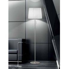 FA2960T - Lampada da terra in metallo e tessuto, diversi colori disponibili