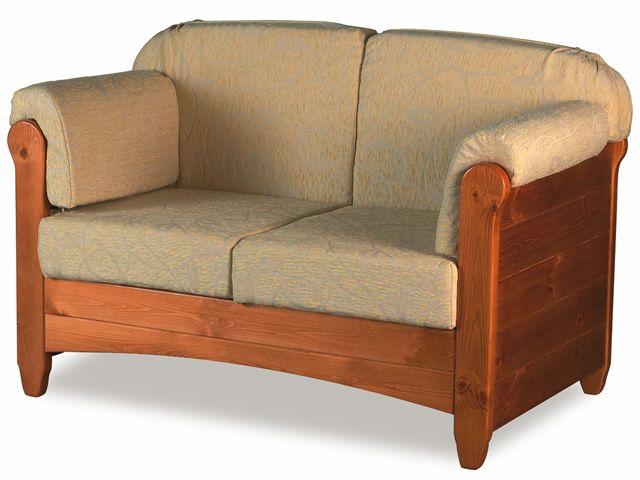 Lar8 divano canap rustique en bois avec coussins for Canape rustique