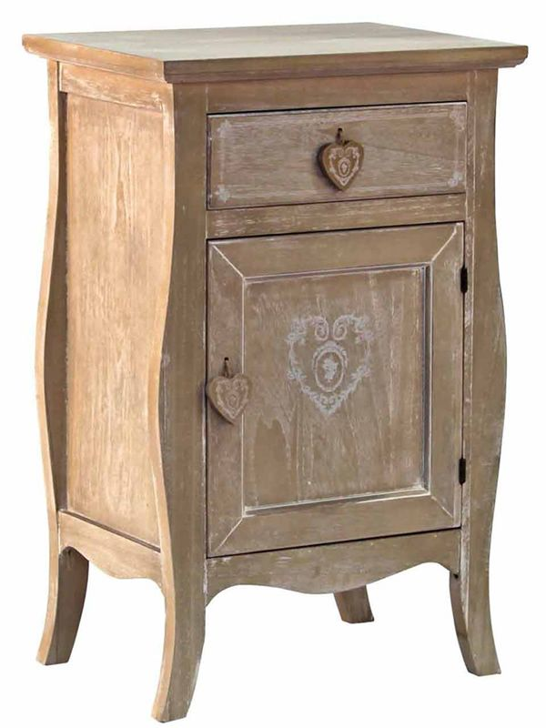 Ustica mueble shabby chic de madera 46x34 cms altura 72 cms sediarreda - Shabby chic muebles ...