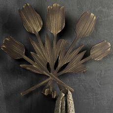 Bouquet appendino - Appendiabiti da parete in ferro, disponibile in diversi colori