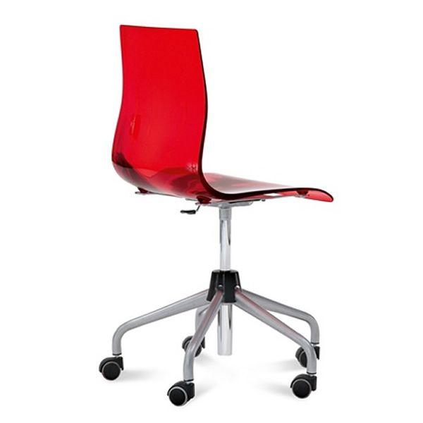Gel d sedia da ufficio domitalia in metallo e san for Sedia ufficio trasparente