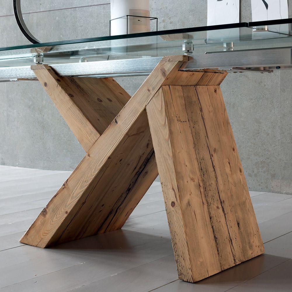 akeo a moderner holztisch verl ngerbar mit tischplatte aus glas in verschiedenen gr en. Black Bedroom Furniture Sets. Home Design Ideas