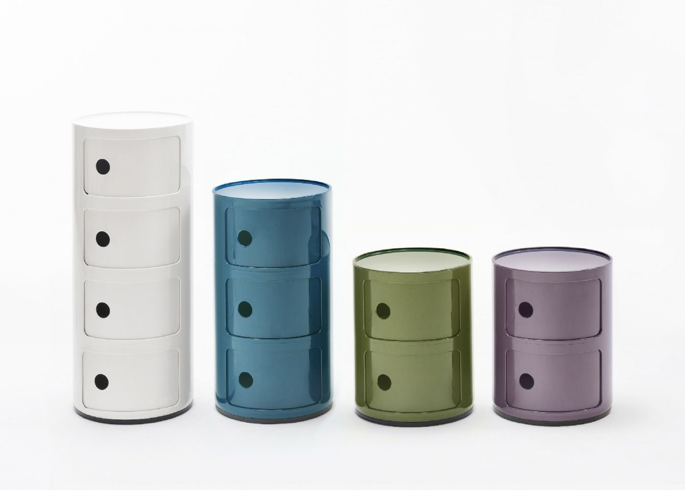 componibili  design kartell container in abs equipped with  -  componibili   design kartell container in several colours andsizes