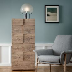 Tip Tap-D - Dall'Agnese high chest of drawers made of wood, different finishes available, six drawers