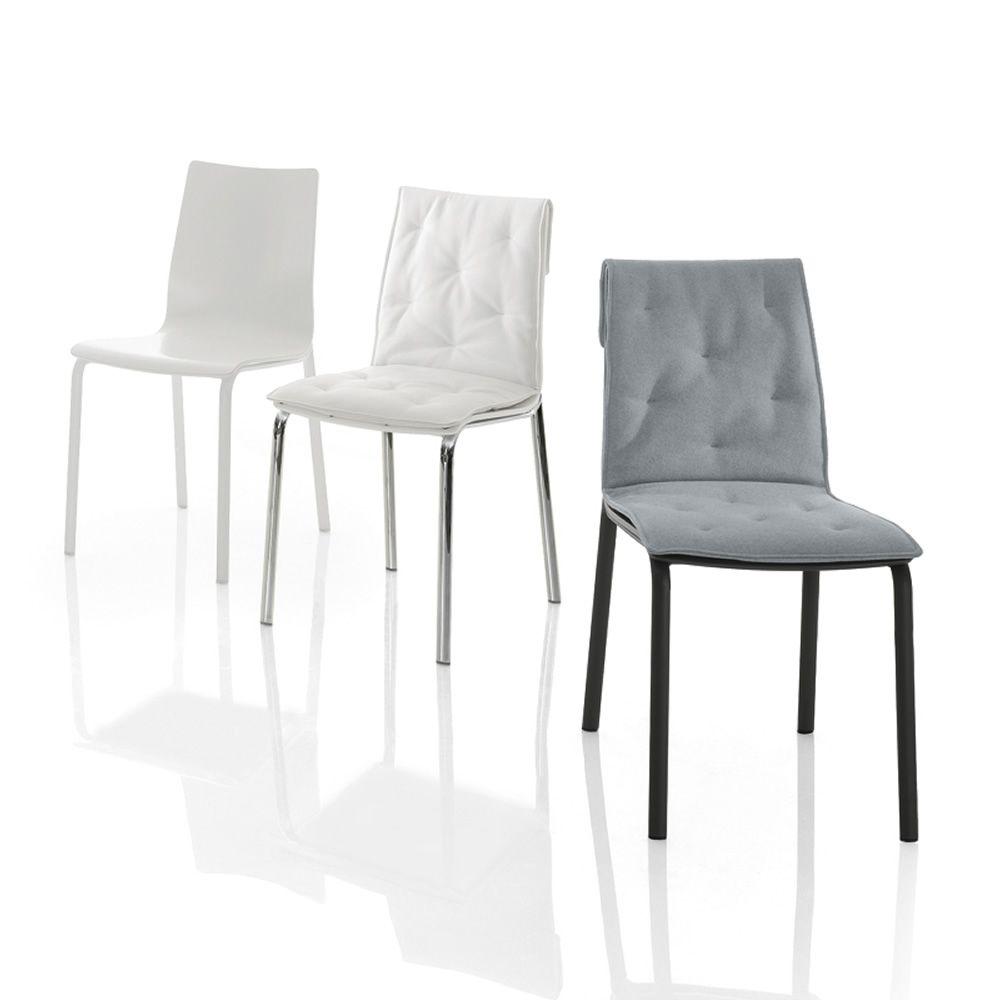 Alfa wood soft chaise design de bontempi casa en bois - Coussin de chaise casa ...