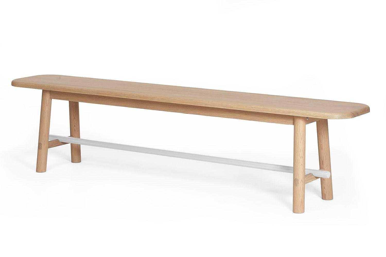 Hector - Panca in legno di rovere e metallo - Sediarreda