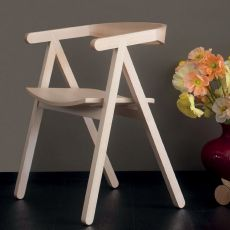 A-Chair - Sessel Valsecchi aus natürlichem Eschenholz