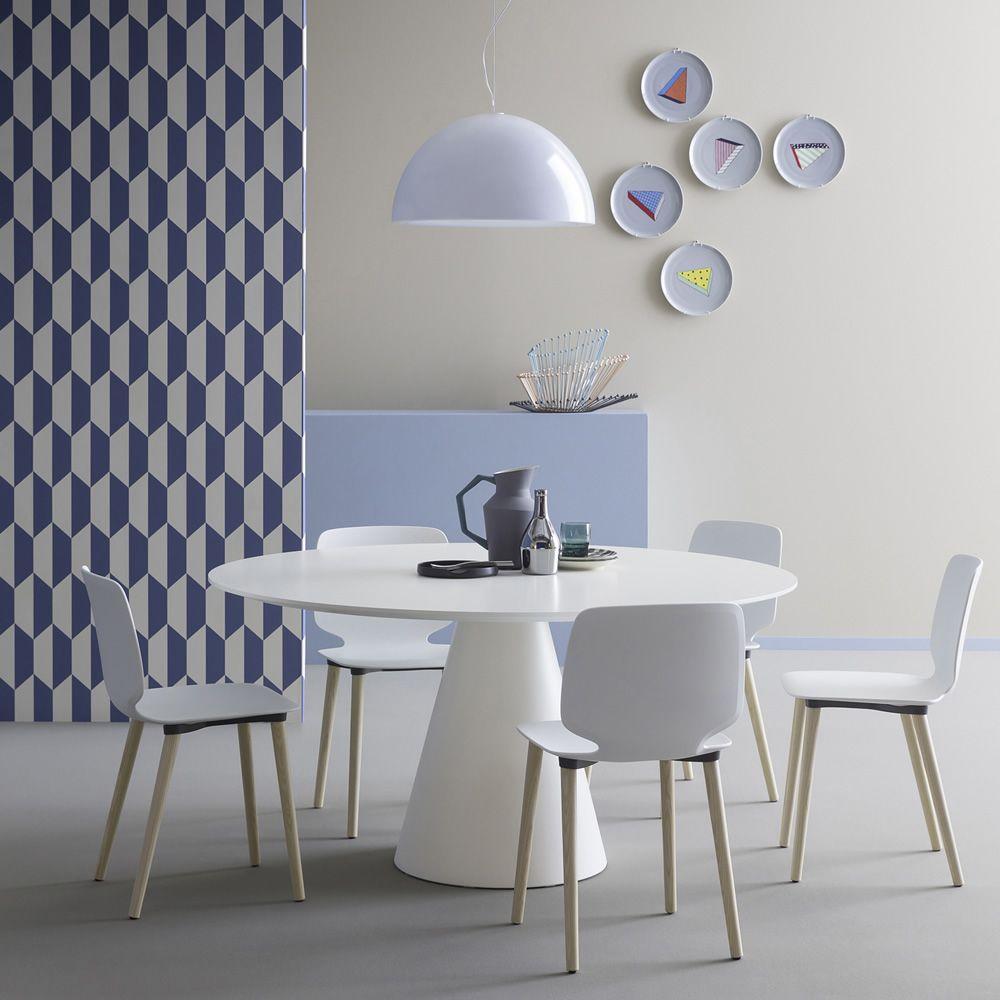 Ikon 869 fester tisch pedrali aus polyethylen mit for Designer tisch weiss