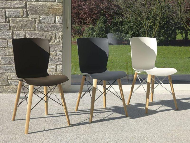 Rap wood sedia colico in legno e polipropilene diversi for Colico sedie outlet