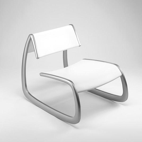 G-Chair - Potroncina Infiniti in alluminio, seduta e schienale in poliuretano...