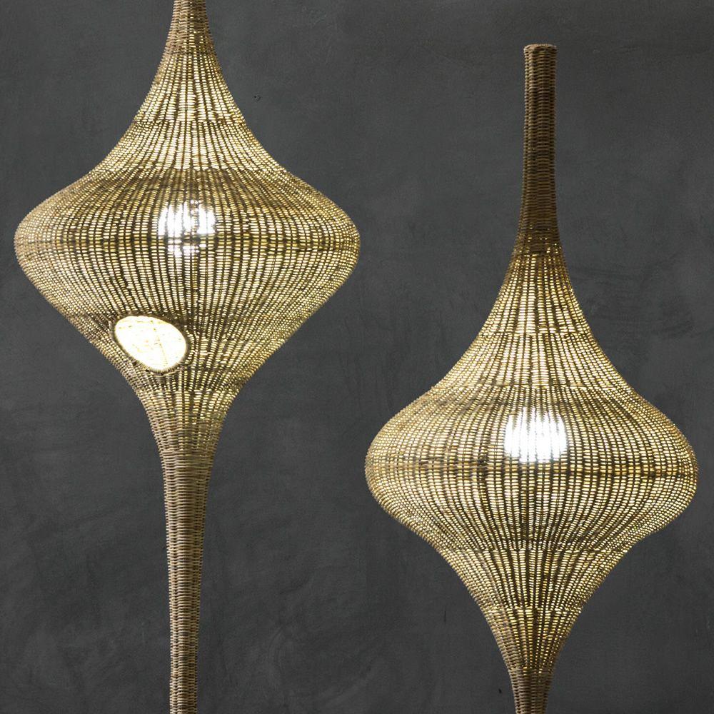 spin lampe de sol gervasoni en rotin disponible en. Black Bedroom Furniture Sets. Home Design Ideas