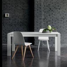 Rubino - Verlängerbarer Tisch Dall'Agnese aus Furnierholz, in verschiedenen Farben und Abmessungen verfügbar