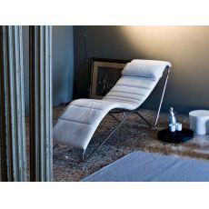 T.T. Relax - Chaise longue Midj in metallo, diversi rivestimenti e colori disponibili