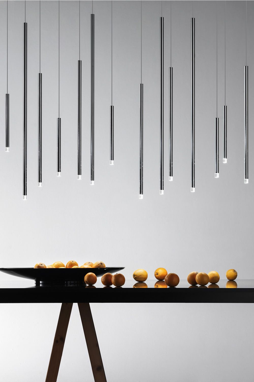 A tube nano lampada a sospensione di design in metallo for Lampade a sospensione