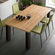 Antillo - Tavolo di design, 160x90 cm, con struttura in metallo, piano in diversi materiali e finiture