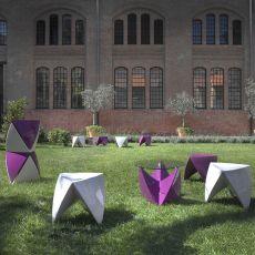 Mr.Lem - Pouf - sgabello basso - tavolino in tecnopolimero, diversi colori disponibili, per esterno, impilabile