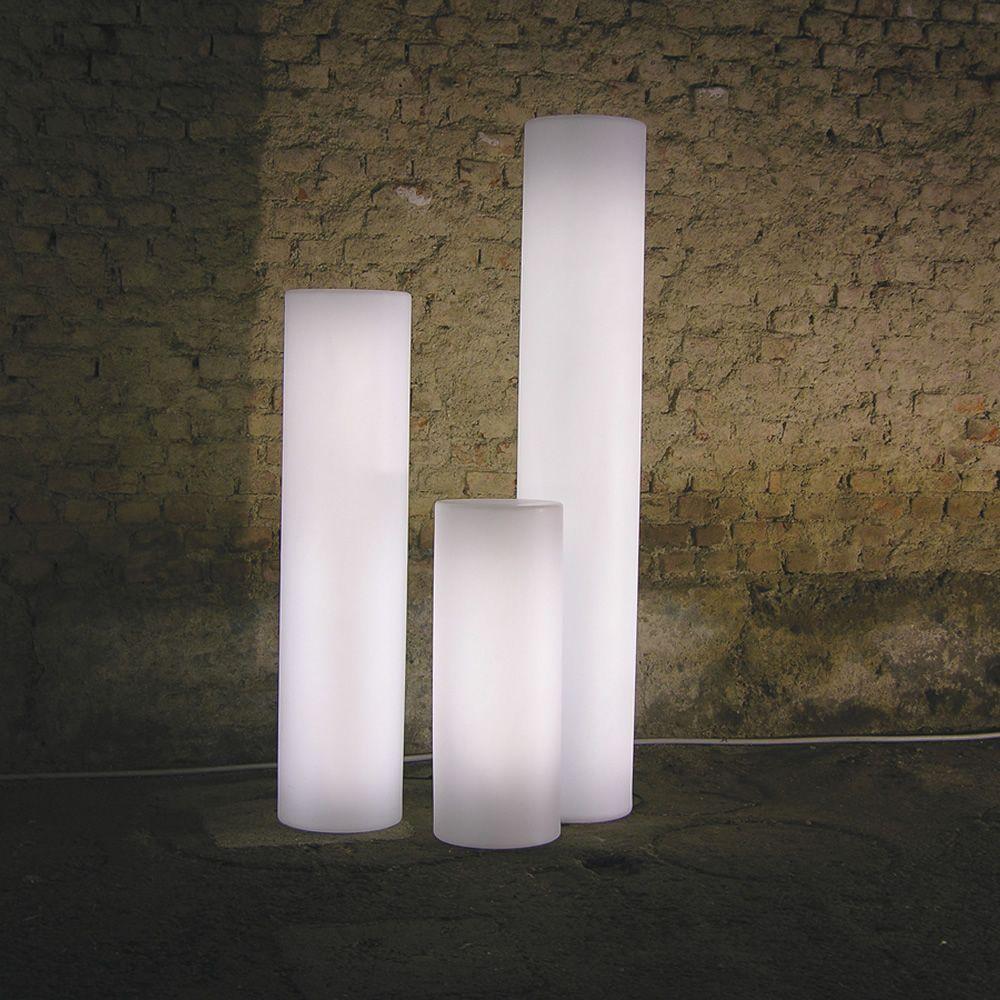 Fluo Outdoor Slide Floor Lamp En Polyethylen Different