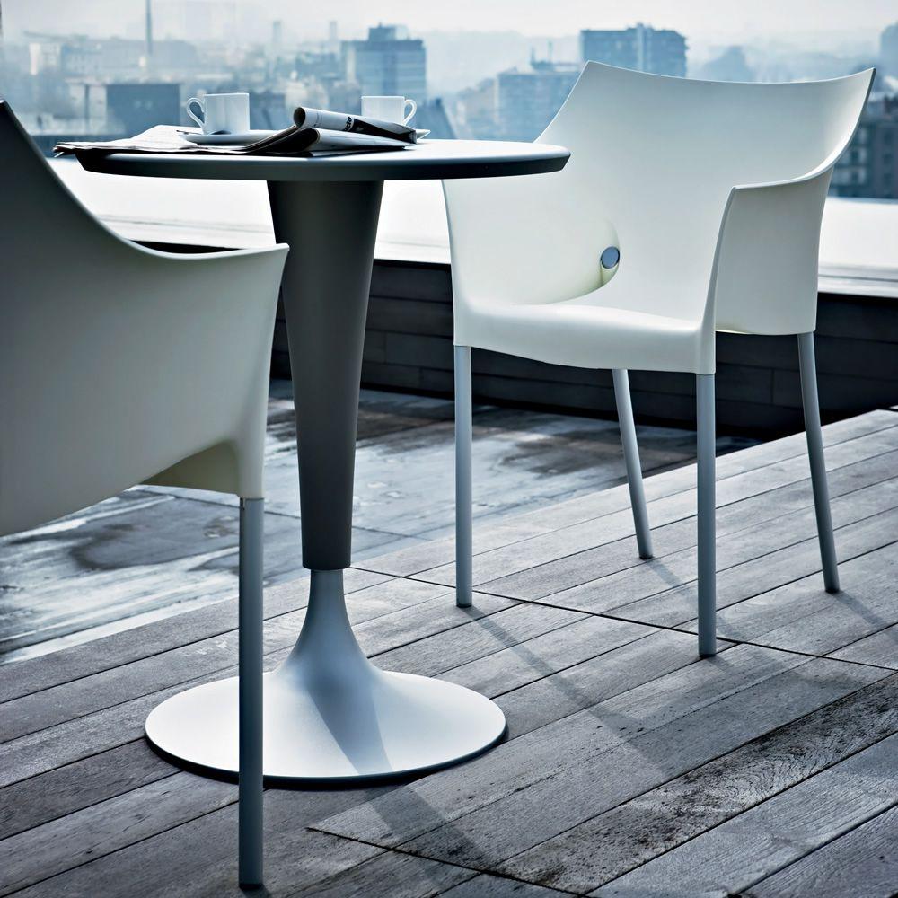 Dr no sedia kartell di design impilabile in alluminio for Sedia design kartell
