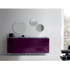 Hosoi-192 - Entrance furniture-shoe rack with three mirrors, available in several colours