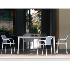 Yard P - Emu armchair in metal, stackable, also for garden, available in several colours