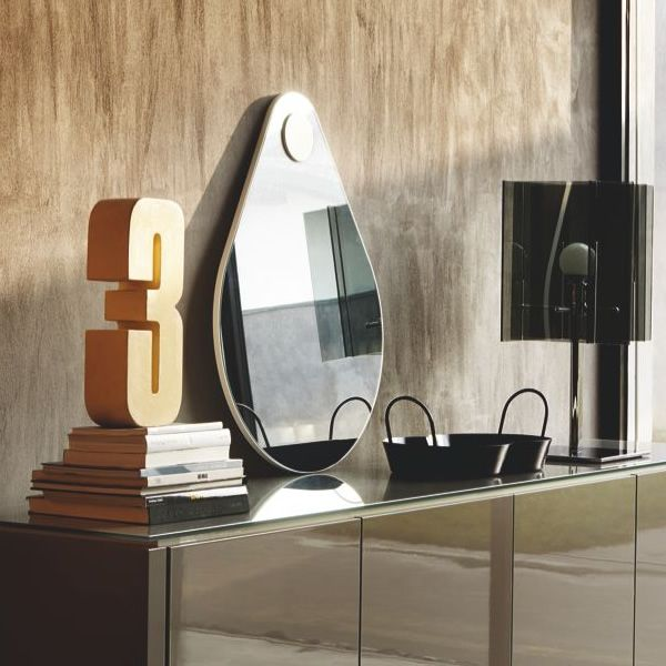 Cb5034 drop connubia calligaris modern mirror for Different sized mirrors