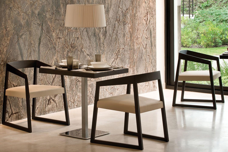 Sign 455 sedia con braccioli pedrali di design in legno con seduta imbottita diversi - Sedia di design ...