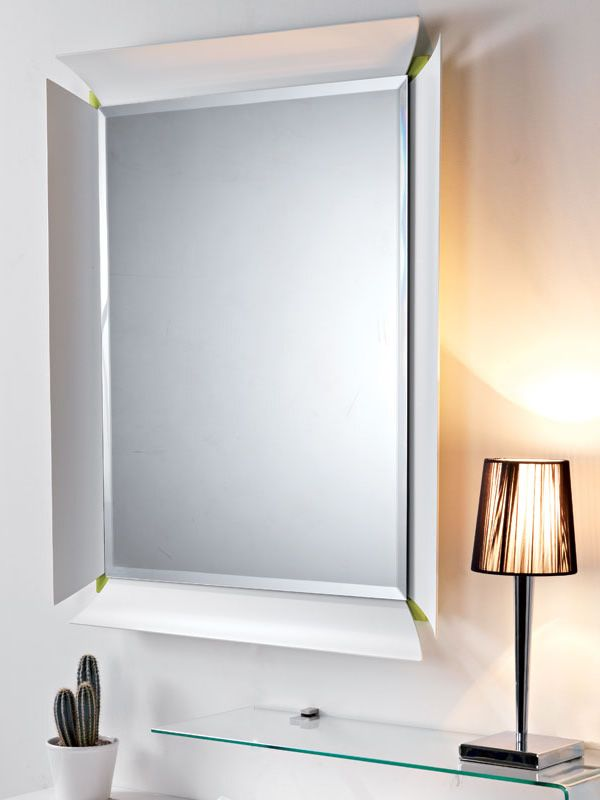 Due v mobile ingresso con vano portaoggetti specchio e - Specchio cornice bianca ...